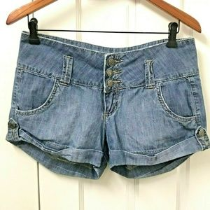 3/$20 Forever 21 Denim Cuffed Shorts Mid Rise